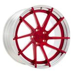 YIDO PERFORMANCE WHEELS | YP 3.2 FORGED | CANDY RED/POLISHED LIP - Boden Visuals