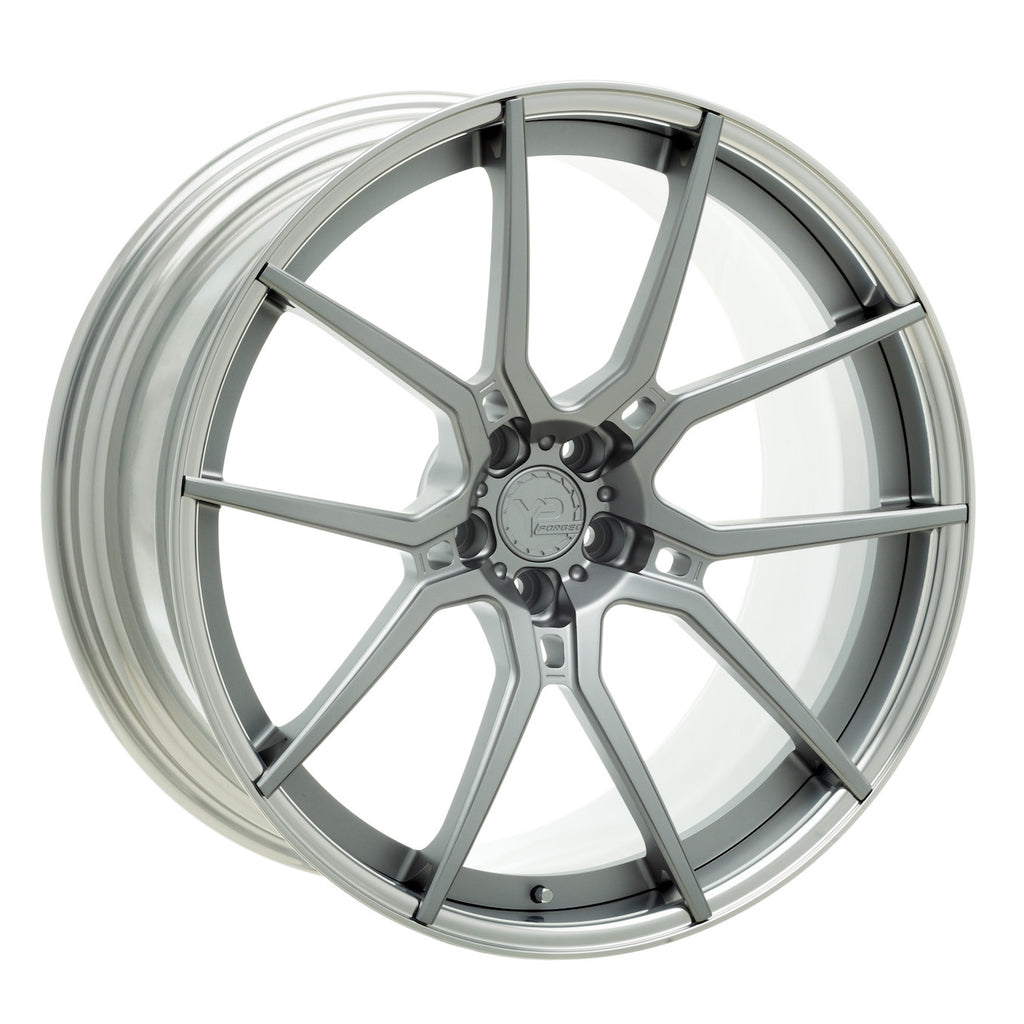 YIDO PERFORMANCE WHEELS | YP LT104.2 FORGED | MATTE GUNMETAL/POLISHED LIP - Boden Visuals