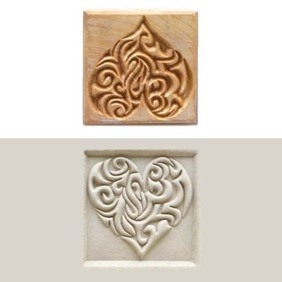 MKM SSL-015 Square Clay Stamp