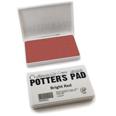 underglaze red potters pad