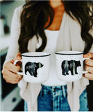 Momma & Papa Bear Ceramic Camp Mugs