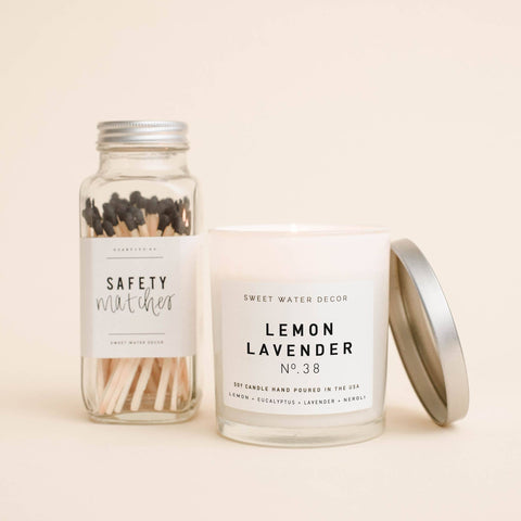 Lemon Lavender Soy Candle | White Jar Candle