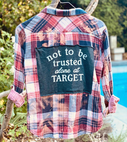 Ombré Upcycled Flannel with Tee Patch - Target