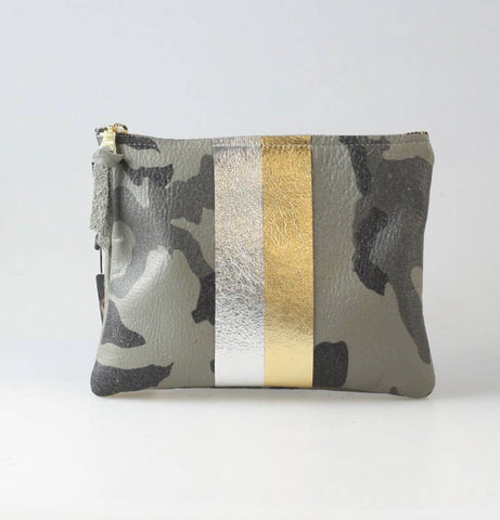 Soft Leather Two Stripe Bag (Camo or Snakeskin)