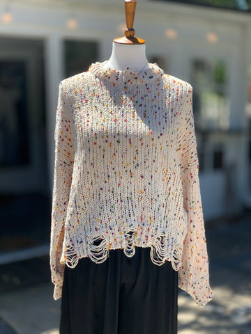 Confetti Chenille Sweater (Cream)