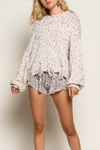 Confetti Chenille Sweater (Cream or Grey)