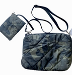 Camo Quilted Crossbody Bag w/ coin purse wristlet