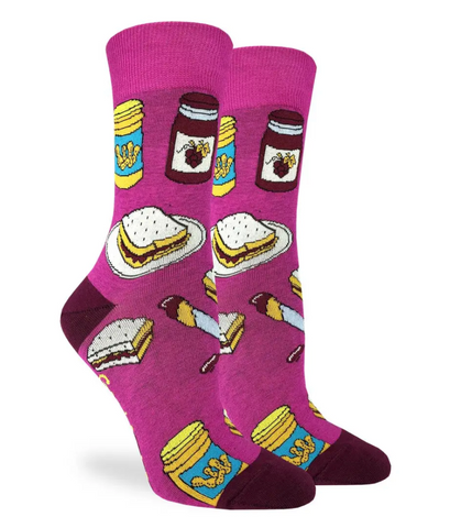Peanut Butter and Jelly Themed Socks Women-Unisex