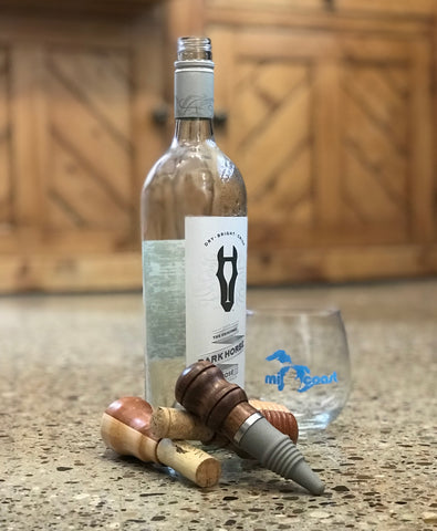 One of a Kind Handcrafted Wooden Wine Bottle Stoppers