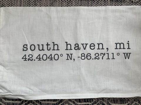 South Have MI, Throw Pillow - Linen cover includes pillow insert