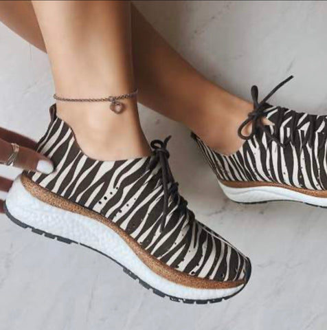 Zebra Print Travel Lite Playful Stylish Sneaker