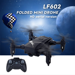 LF602 Mini Quadcopter Foldable RC Drone without Camera, One Battery, Support Forwards & Backwards, 360 Degrees Rotating(Black)