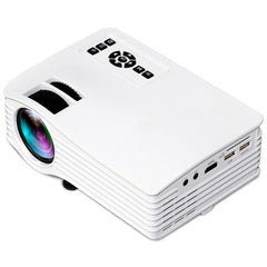 UC36 100-240V LCD Image System USB Charging LED Mini Projector Pocket Beamer Home Theater with Indicator light, Support TF Card & USB Devices (White)