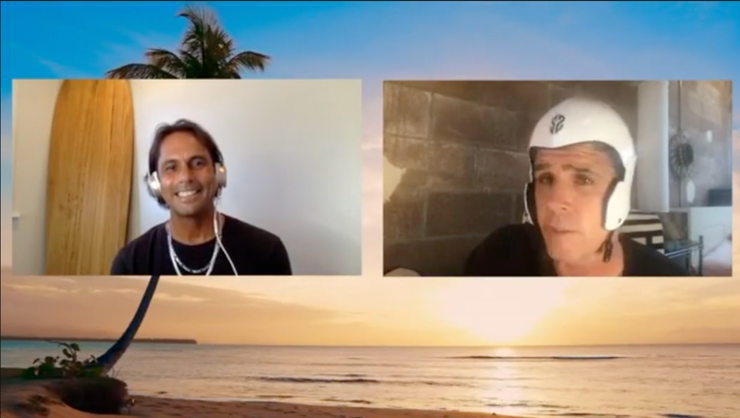 Kaipo Guerrero and Peter Mel get stoked on the new SIMBA surf helmet