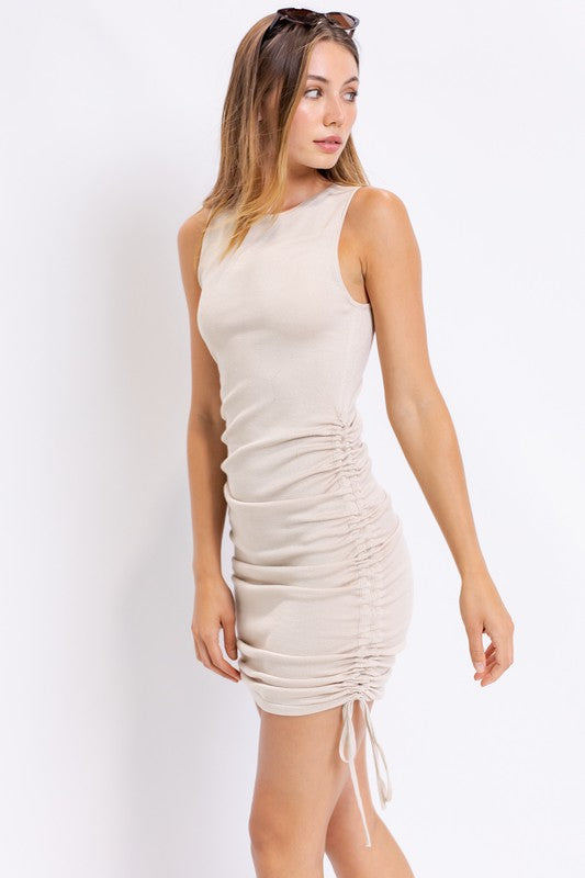 Borderline Dress - Beige