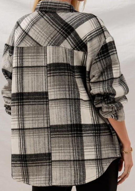 Black Plaid Shacket
