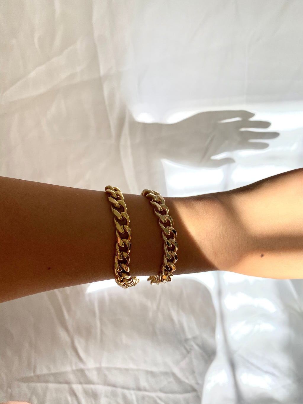 Dark Gold Curb Chain Bracelet