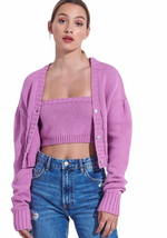 Berry Cardigan Set