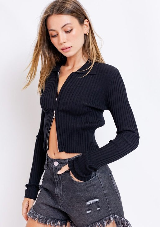 Double Zipped Sweater