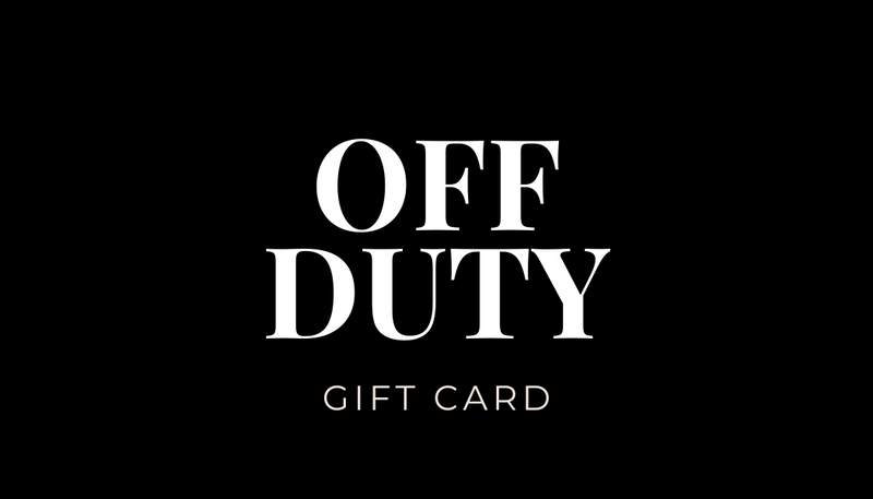 OFF DUTY CLOTHING GIFT CARD