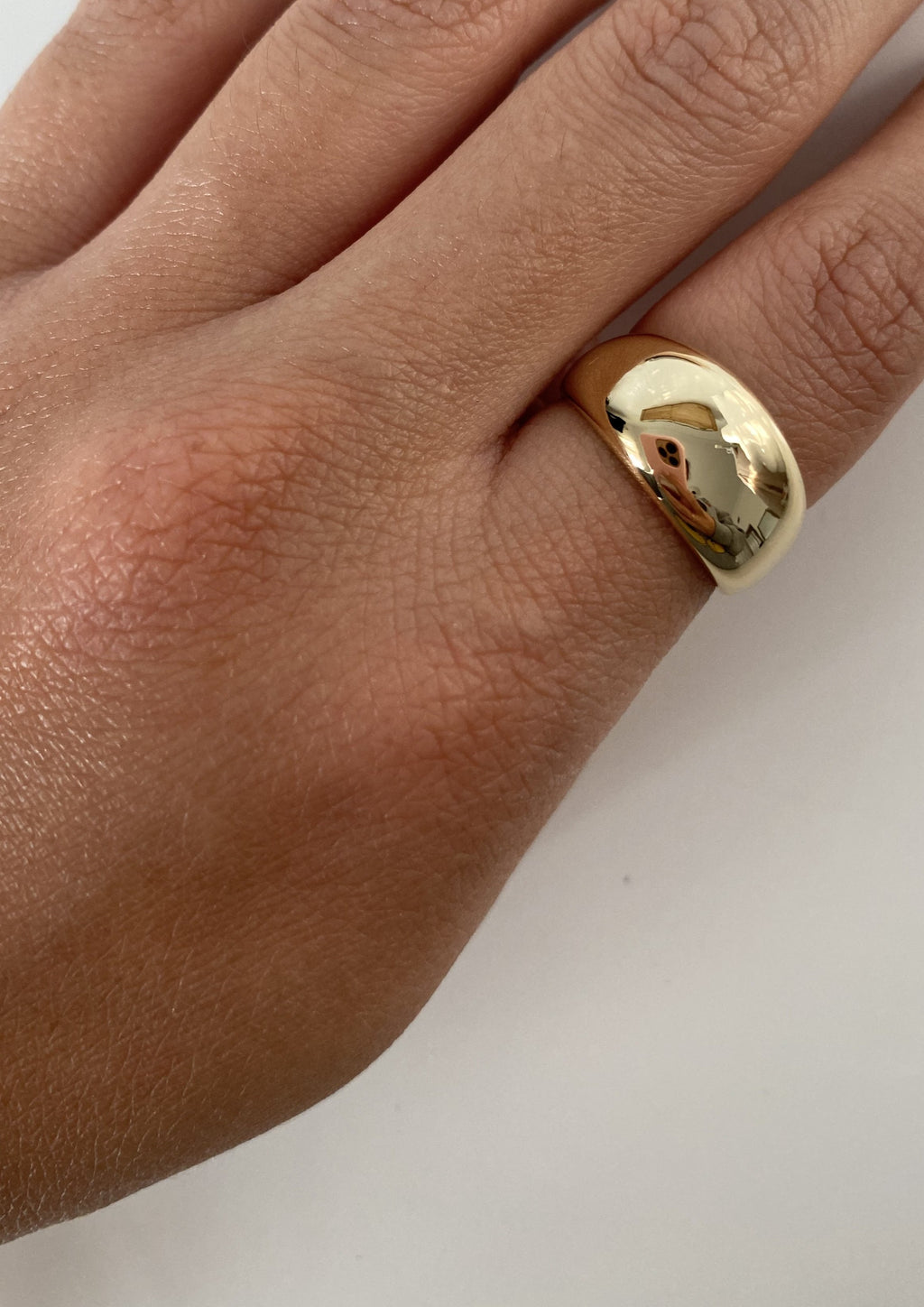 Light Gold Dome Ring