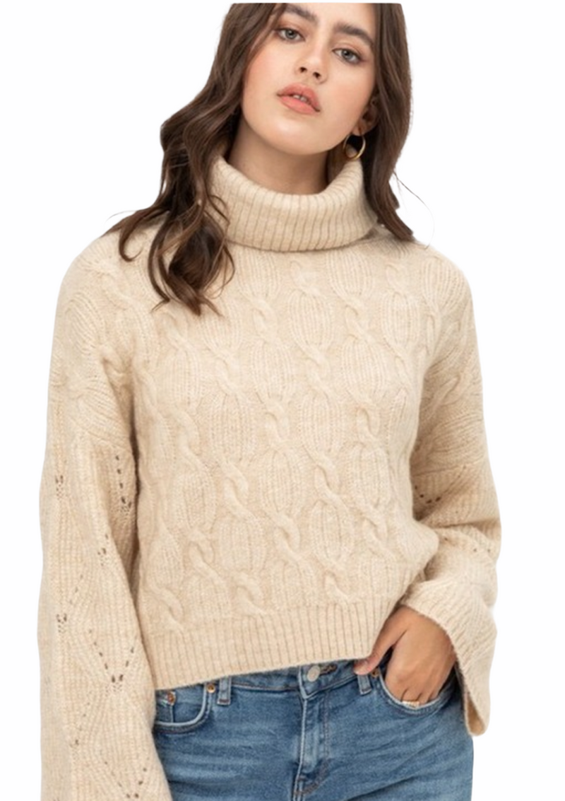 Tan Cozy Knit Sweater