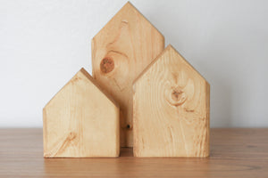 Natural Wood Nesting Houses