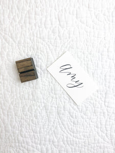 Petite Wood Place Card Holder