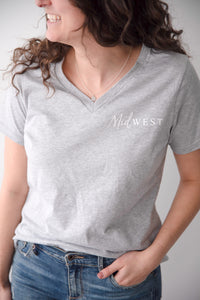 Midwest v-neck short sleeve shirt
