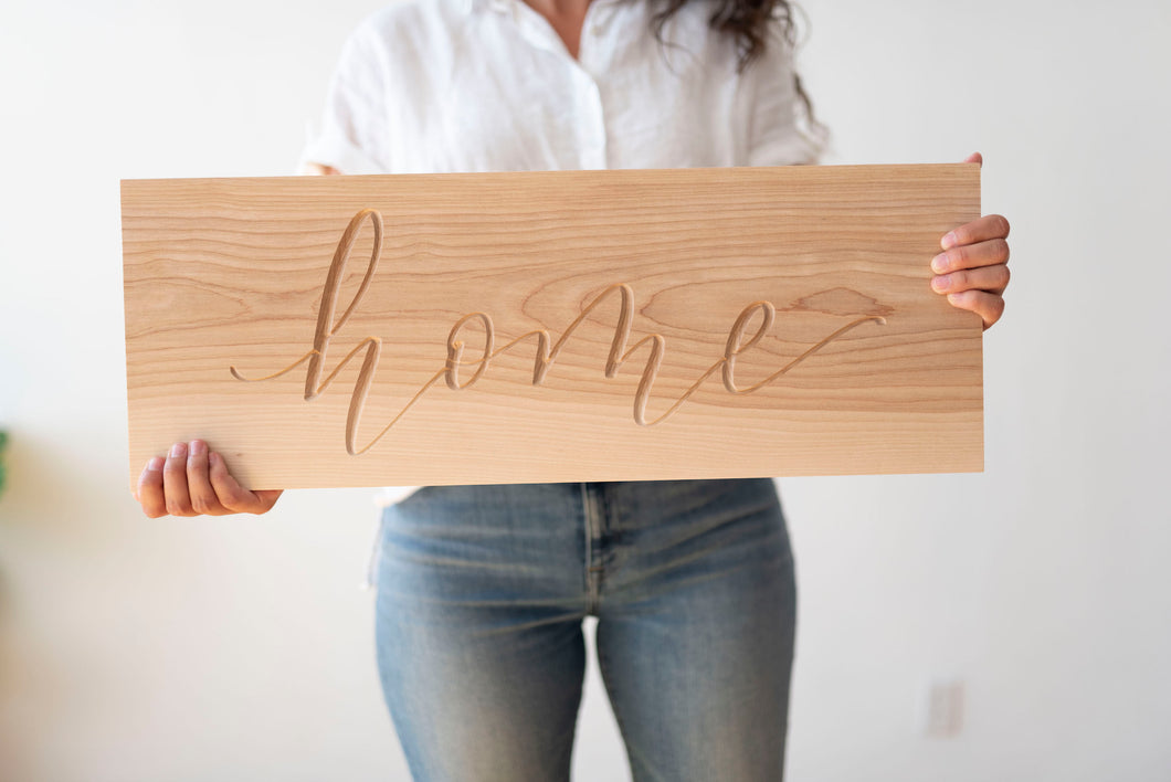 Engraved Sign | Home