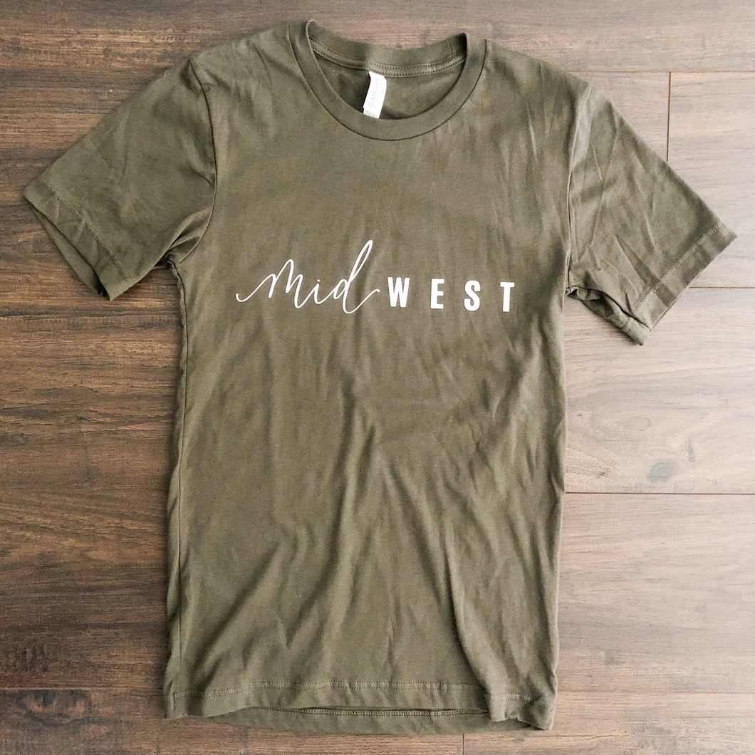 Unisex Jersey Short Sleeve Army Green | Midwest