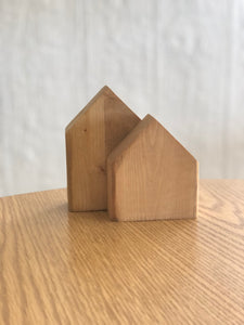 Set of 2 wood nesting houses