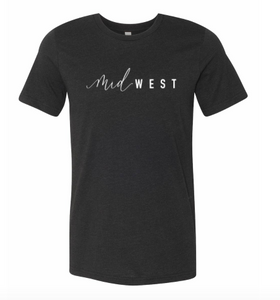 Unisex Jersey Short Sleeve Heather Black | Midwest