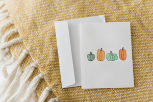 Greeting Card, Pumpkin Cluster
