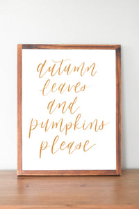 Water Color Print | Autumn Leaves