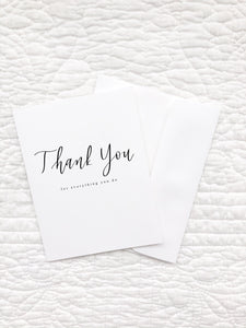 "Greeting Card ""Thank you for everything you do"""