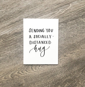 "Greeting Card ""socially distanced hug"""
