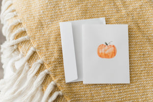 Greeting Card, Water color pumpkins