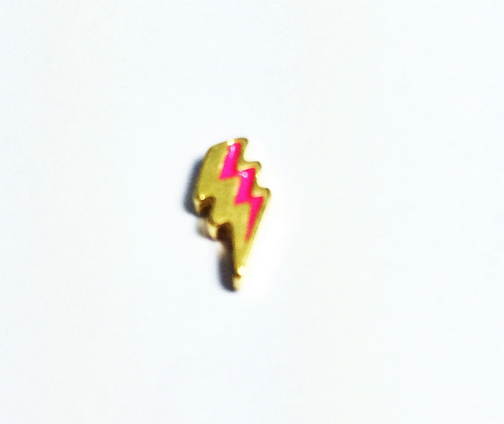 Lightning Bolt- Pink/Gold