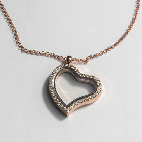 Heart Shaped Locket- Rose Gold
