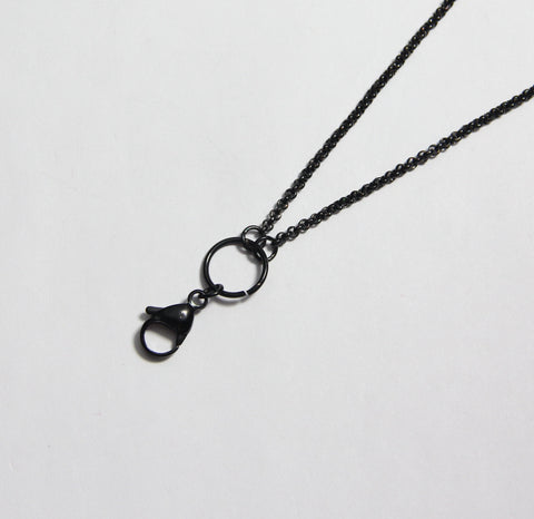 Long Plain Chain- Black