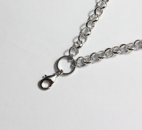Short Thick Link Chain- Silver