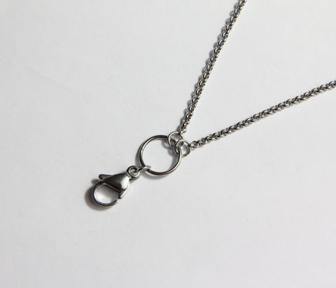 Long Plain Chain- Silver
