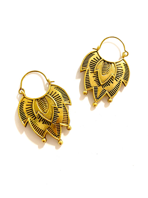 Sarah Brass Tassel Earrings
