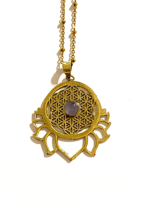 Kai Lotus Moonstone Necklace