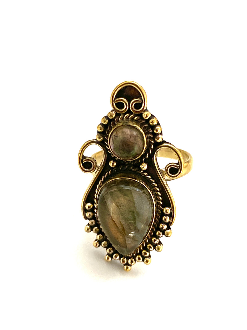 Gia Brass Earrings