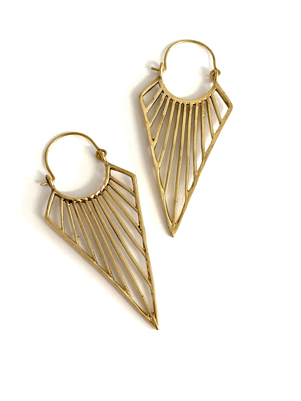 Faisal Brass Earrings