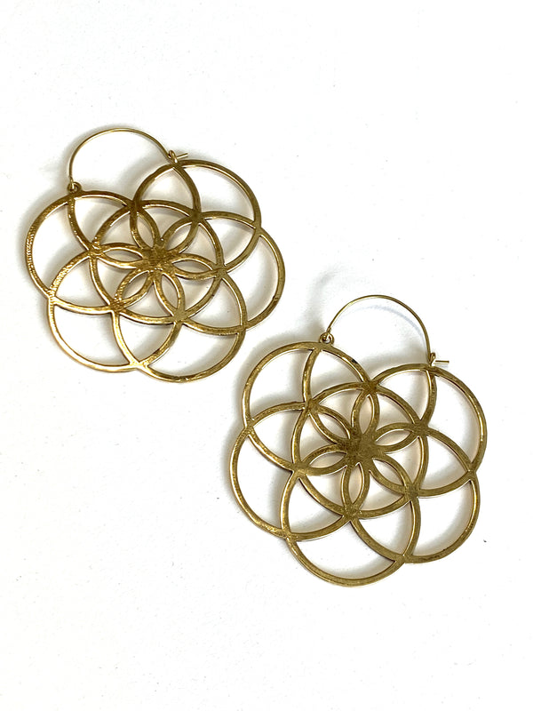 Clea Brass Earrings
