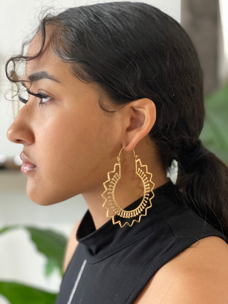 Juhi Brass Earrings
