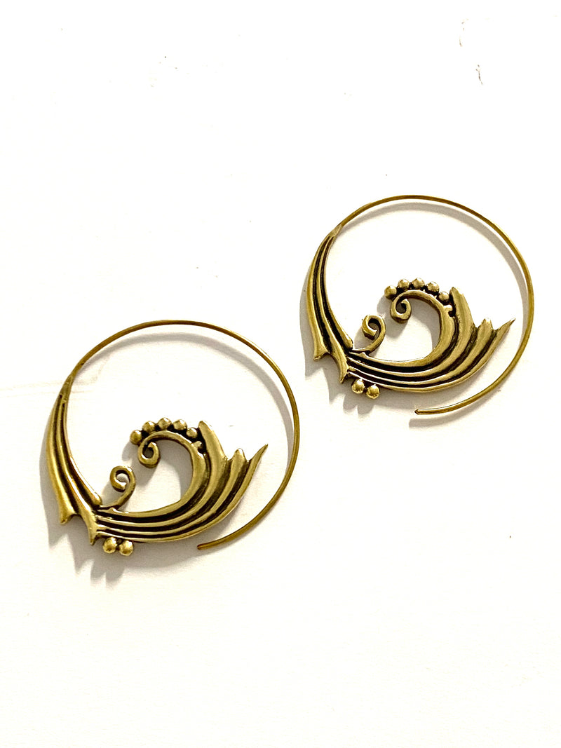 Nisha Brass Earrings